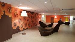 Décoration murale grand format en EHPAD