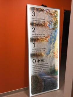 Signalétique du nouvel EHPAD entièrement ALZHEIMER à la Résidence Ravenne à Joeuf