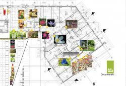 Méthodologie pour la décoration murale dans un grand établissement